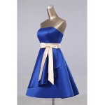 Formal Evening Dress - As Picture A-line Strapless Knee-length Satin Special Occasion Dresses