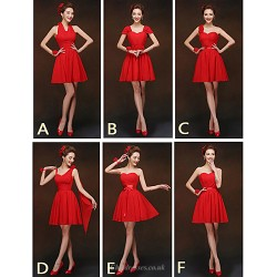 Mix & Match Dresses Short Mini Chiffon 6 Styles Bridesmaid Dresses (2840134)