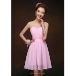 Short/Mini Bridesmaid Dress - Blushing Pink Sheath/Column Sweetheart Special Occasion Dresses