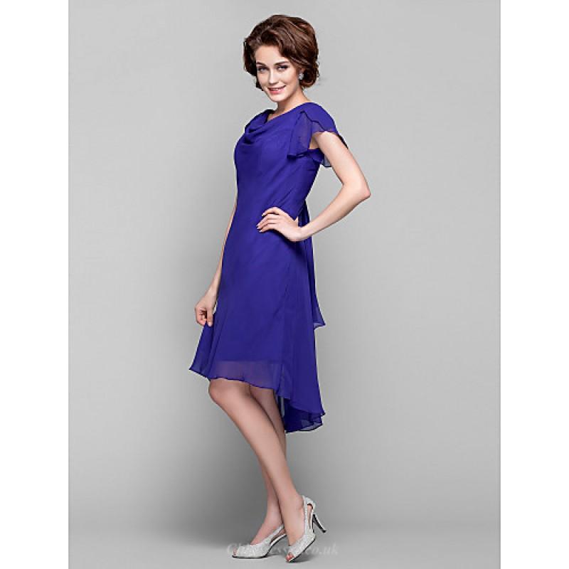 Dress Regency Plus Sizes Petite Sheath Column Cowl