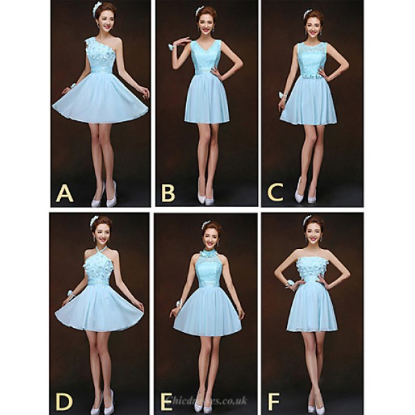 Mix & Match Dresses Short/Mini Chiffon and Lace 6 Styles Bridesmaid Dresses (2840153) Special Occasion Dresses