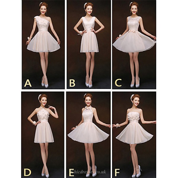 Mix & Match Dresses Short/Mini Chiffon and Lace 6 Styles Bridesmaid Dresses (2840149) Special Occasion Dresses