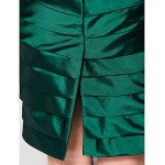 Sheath/Column Plus Sizes / Petite Mother of the Bride Dress - Dark Green Knee-length Sleeveless Taffeta Mother Of The Bride Dresses