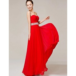 Formal Evening Dress Ruby A Line Sweetheart Floor Length Nylon Taffeta