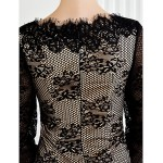 TS Couture Sheath/Column Mother of the Bride Dress - Floor-length Long Sleeve Lace Mother Of The Bride Dresses