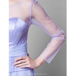 A Line Plus Sizes Petite Mother Of The Bride Dress Lavender Floor Length Long Sleeve Chiffon Tulle