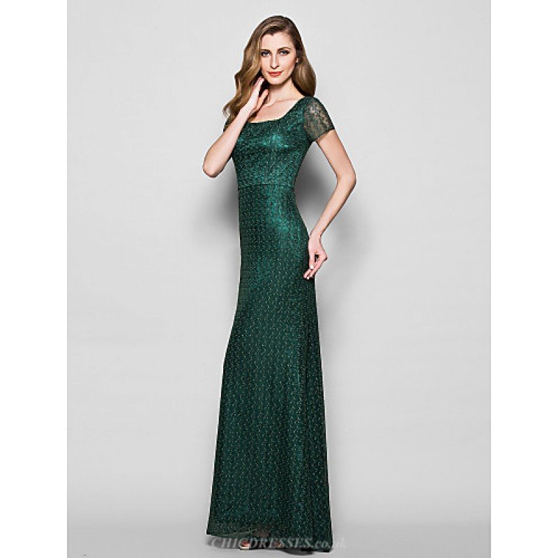Dark Green Mother of the Bride Dress