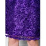 Sheath/Column Plus Sizes / Petite Mother of the Bride Dress - Regency Knee-length Sleeveless Lace / Taffeta Mother Of The Bride Dresses